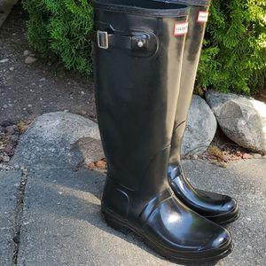 Hunter boots glossy